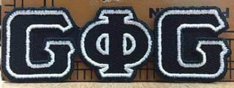 Groove Phi Groove iron on patch