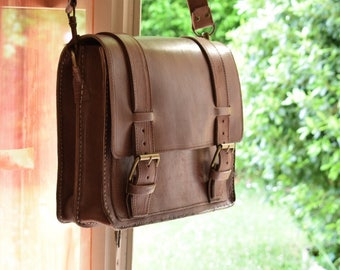 leather satchel Messenger bag new