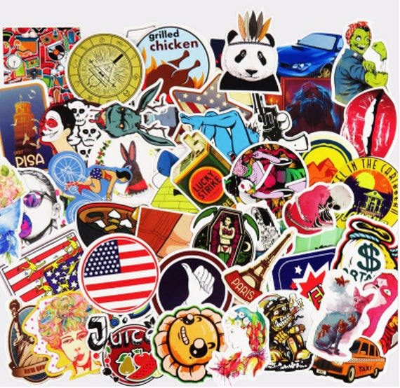 50 Funny Car Sticker Suitcase Home Phone Laptop DIY Vinyl Decal Stickers  Bomb JDM Car Bombing Sticker Pack Decal Stickers Covers