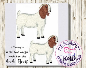Embroidery Designs Boer Goat Billy: Size 4x4, Instant Download, KMDemb Machine Embroidery Design
