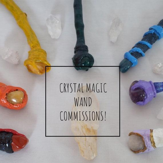 Custom Magic Wands Crystal Wand Commissions Etsy