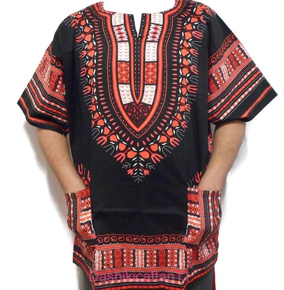 Large Size African Men Women Green Dashiki Shirt Top Blouse Hippie Tribal Caftan