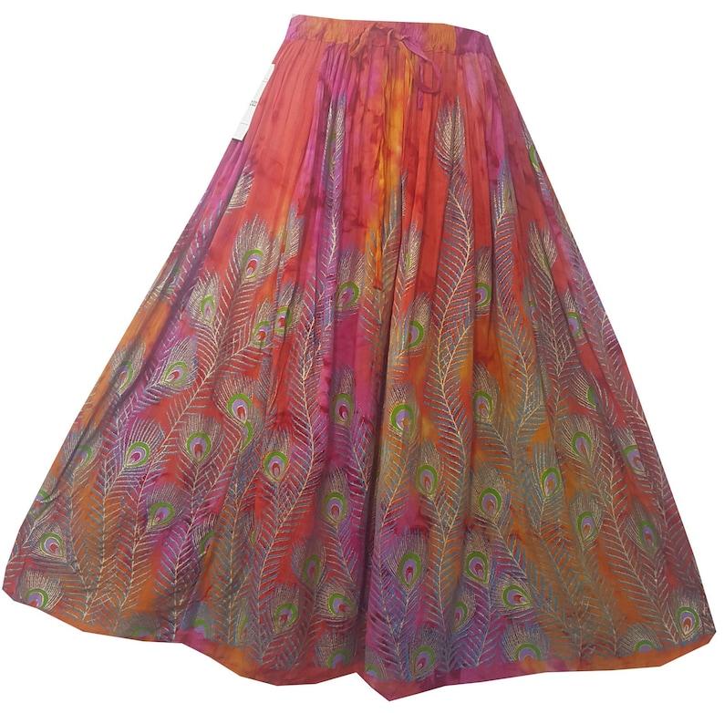 b063317683 Women Clothing Below Knee Skirt Gypsy A-Line Tie Dye Long | Etsy
