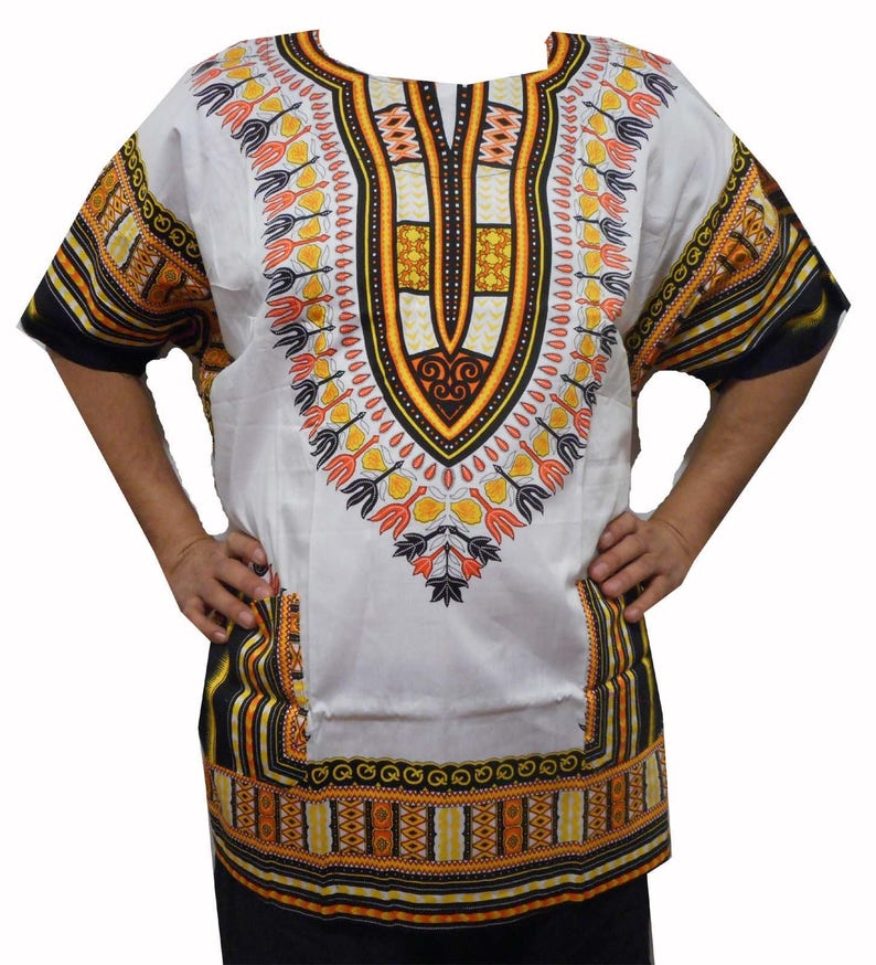 1afca2500315 Dashiki Shirt Poncho African Men Ethnic Hippie Top Blouse