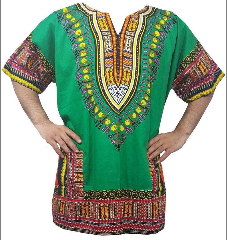 9214afe63c7a African Dashiki Men Shirt Summer Beach Top Vintage Costume