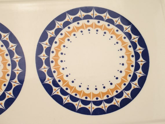 set of 2 cottage style,70s 60s folk herbolzheim Germany cake plate Vintage cake platters