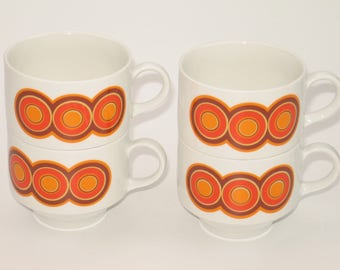 Vintage 70s coffee cups