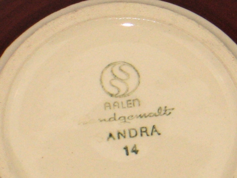 Vintage 60s ST\u00dcTZEL SACHS ceramic bowl small West German Pottery