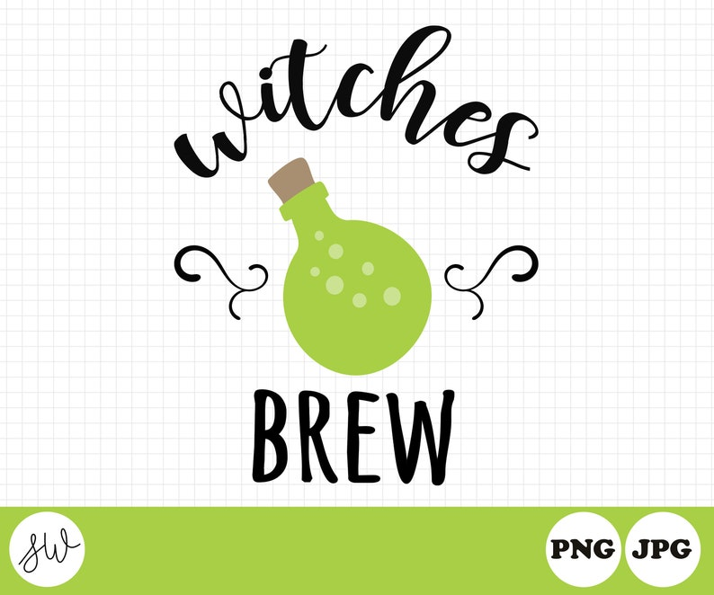 Witch Brew Clipart  Halloween Sublimation Design  Witch image 0