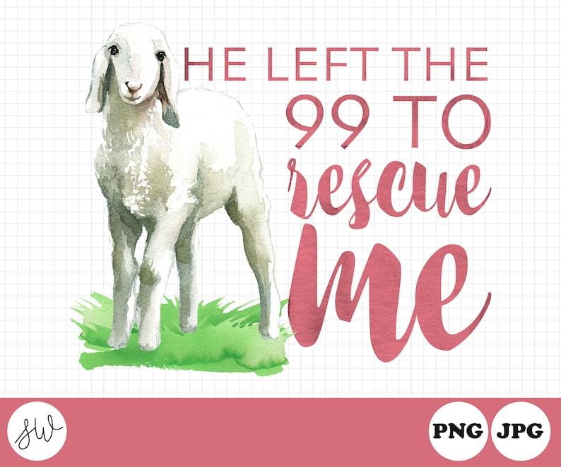 He Left The 99 To Rescue Me  Matthew 18:12  Female Sheep  image 0
