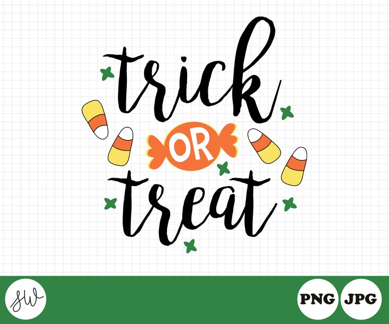 Trick Or Treat Clipart  Halloween Clipart  Halloween image 0
