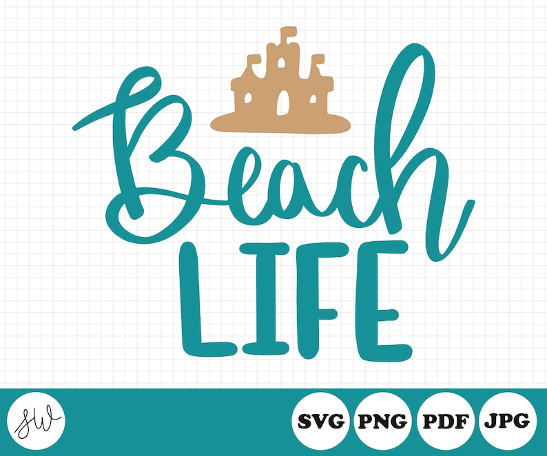 Beach Life SVG File  Summer Cut File  Beach Cut File  image 0