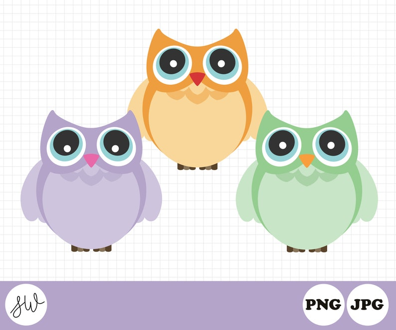 Owl Clipart  Back to School Clipart  Teacher Graphics  image 0
