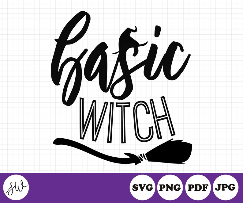 Basic Witch SVG Cut File  Halloween Cut File  Witch Cut File image 0