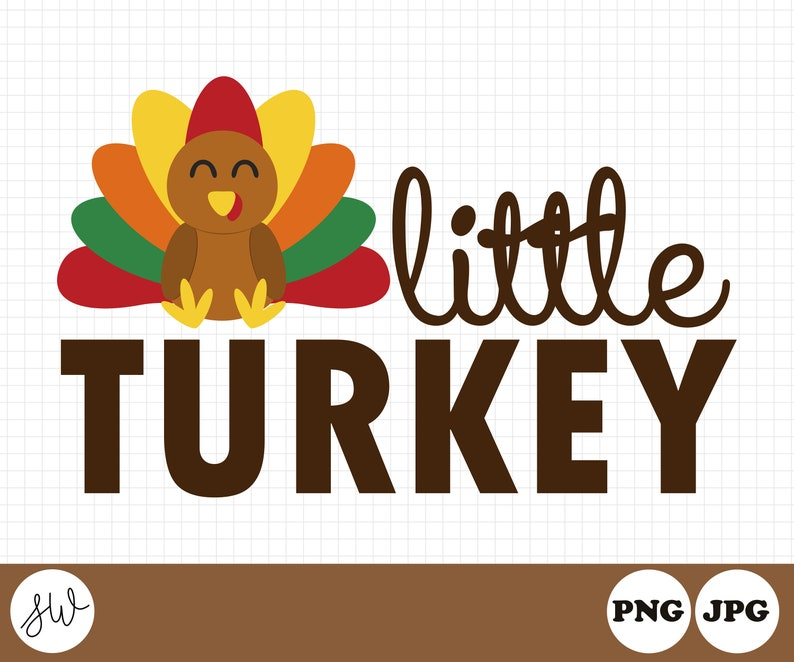Little Turkey Clipart  Fall Sublimation Design  Turkey image 0