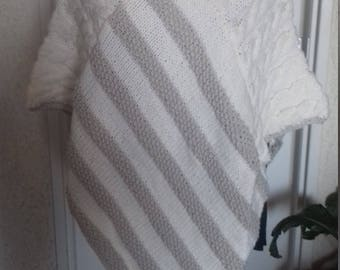 Beautiful knitted poncho woolen