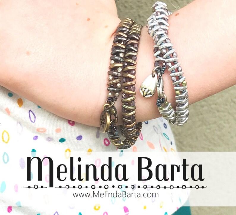 Double Down DIGITAL PATTERN for Wrap Bracelet by Melinda Barta image 0