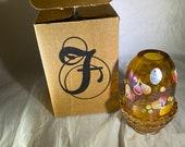 Fenton Autumn Gold Fairy Lamp - new in box