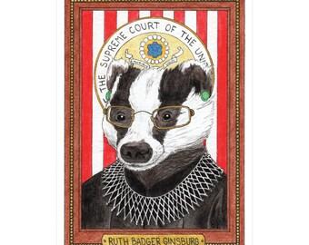 Ruth Badger Ginsburg Greeting Card - Wild Idols - Ruth Bader Ginsburg