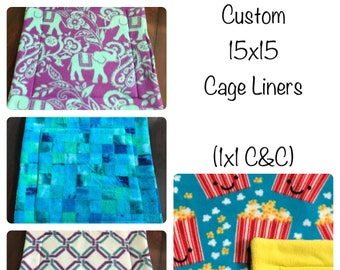 15x15 Cage Liner - Guinea Pig Cage - 1x1 CandC - Cage Liner - Fleece - Potty Pad - Uhaul Pad - Hedgehog Fleece - Guinea Pig Fleece