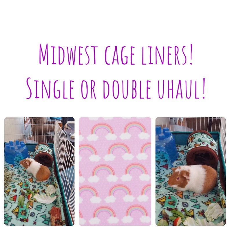 Midwest Cage Liner  Guinea Pig Fleece  CAGE LINERS  24x47  image 1