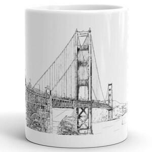 San Francisco Golden Gate Bridge Mug California Mug Etsy
