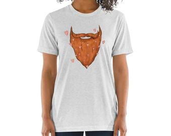Beard Love Short Men's - Unisex sleeve t-shirt Bearded Red Beard Shirt Beard T-Shirt Beard Love Father's Day Shirt Beard Gift Idea