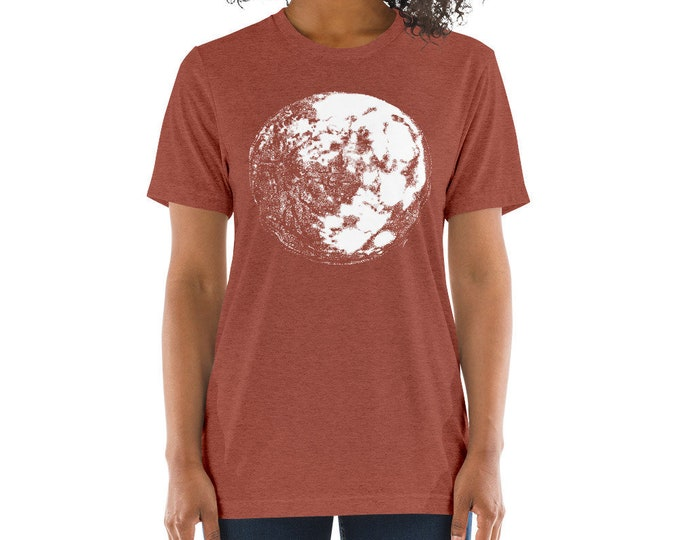 Moon Men's Unisex Short sleeve t-shirt Moon T-Shirt | Space Shirt | Galaxy Shirt | Science Shirt | Full Moon Shirt Moon Tee Full Moon Shirt