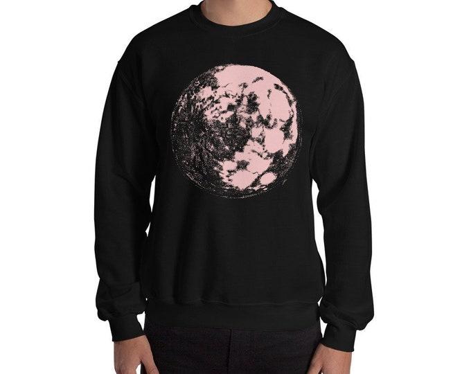Pink Moon Crewneck Sweatshirt | Moon Sweater | Moon Sweatshirt | Full Moon |  | Moon Sweater | Full Moon Sweatshirt | Space Sweater | Galaxy