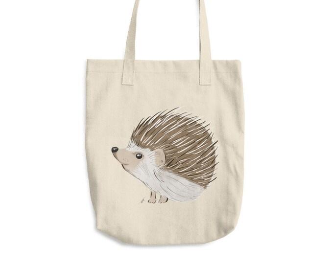 Hedgehog Cotton Tote Bag | Hedgehog Tote Bag | Animal Tote Bag | Hedgehog Gift | Birthday Gift | Hedgehog Beach Bag Grocery Bag Hedgehog Bag