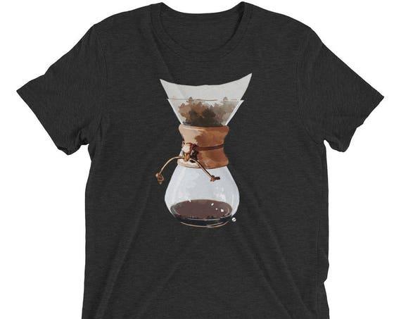 Pour Over Short sleeve tri-blend men's - unisex t-shirt Chemex Shirt Pour Over Shirt Coffee Life Shirt Coffee Snob Shirt Coffee Shirt Gift