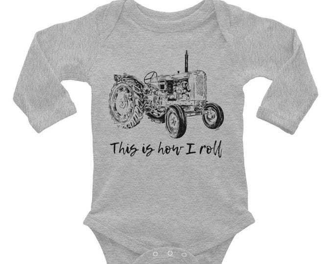 This is How I Roll Tractor Baby Bodysuit - Tractor Baby Outfit