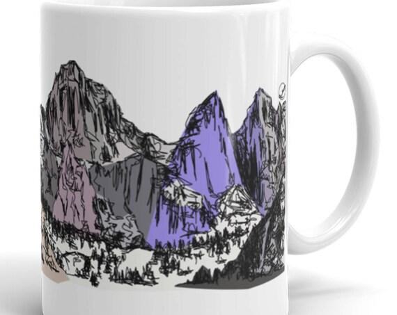 Mountain Mug | Mt Whitney Coffee Mug | Mount Whitney Coffee Mug | Color Block Coffee Mug | Bold Colors | Mountains | Mountain | California