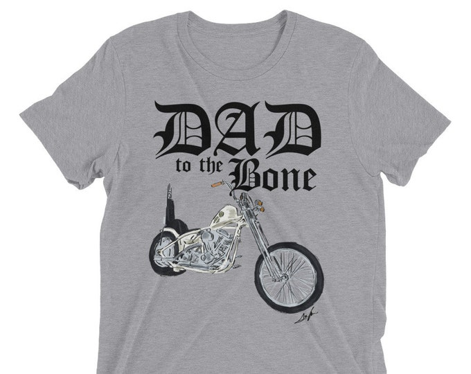 Dad to the Bone Biker Short sleeve t-shirt Motorcycle Shirt Father's Day Gift Idea Biker New Dad Shirt Dad to the Bone Dad Birthday Gift