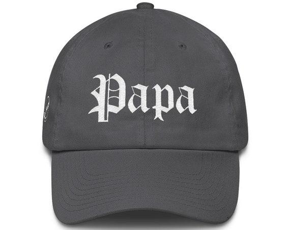 Papa Dad Hat Cotton Cap | Papa Hat | Grandpa Hat | Grandpa Gift | Father's Day Gift | Papa Gift | Grandpa Birthday Gift