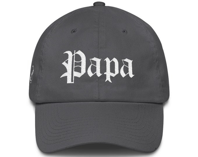 Papa Dad Hat Cotton Cap | Papa Hat | Grandpa Hat | Grandpa Gift | Father's Day Gift | Papa Gift | Grandpa Birthday Gift