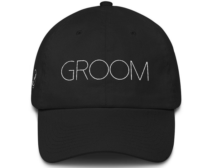 Groom Dad Hat Cotton Cap | Wedding Gift | Groom Hat | Groom Gift Wedding Present Bridal Party Honeymoon Gift Bachelor Party Hat Best Man