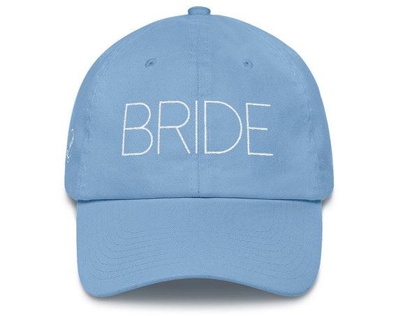 Bride Dad Hat Cotton Cap | Mr & Mrs Gift | Wedding Gift | Bride Hat | Mrs Hat | Wedding Present | Bridal Party | Bridal Shower Honeymoon Gif