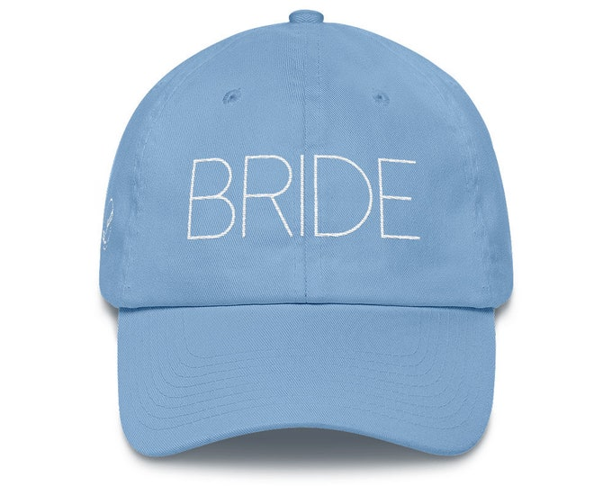 Bride Dad Hat Cotton Cap | Mr & Mrs Gift | Wedding Gift | Bride Hat | Mrs Hat | Wedding Present | Bridal Party | Bridal Shower Honeymoon Gif