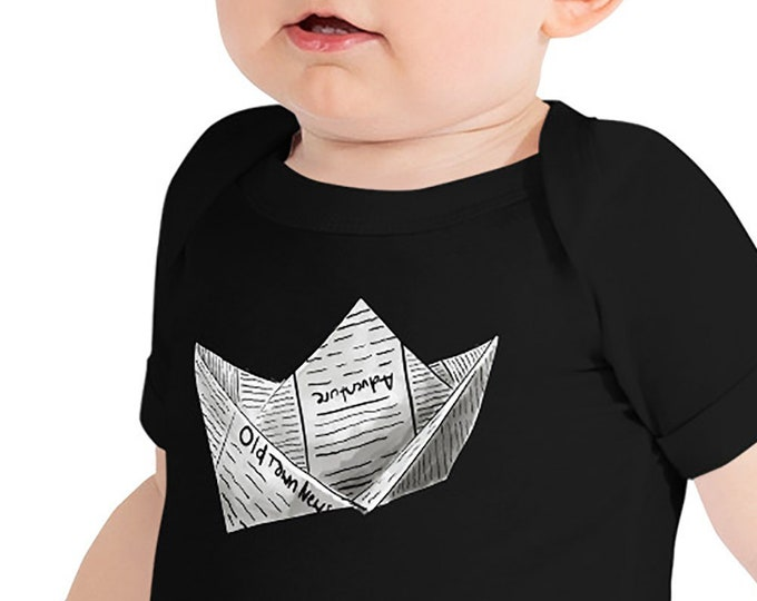 Newspaper Boat Infant Bodysuit | Newspaper Boat Baby Bodysuit | Boat Baby Outfit | Gift Adventure Mug Writer Mug Entrepreneur Gift Business