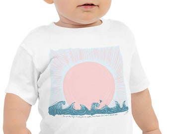 Sail on Distant Seas Sunset Baby T-Shirt - Summer Baby Outfit