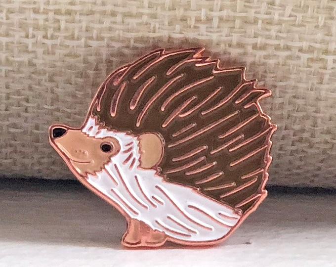 Hedgehog Enamel Pin | Hedgehog Pin | Hedgehog Lover Hedgehog Gift Drawing Woodland Creature Pin Woodland Animal Pin Hedgehog Lapel Pin