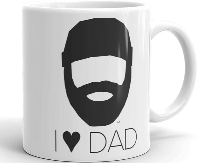 I Heart Dad Coffee Mug for Father's Day Gift