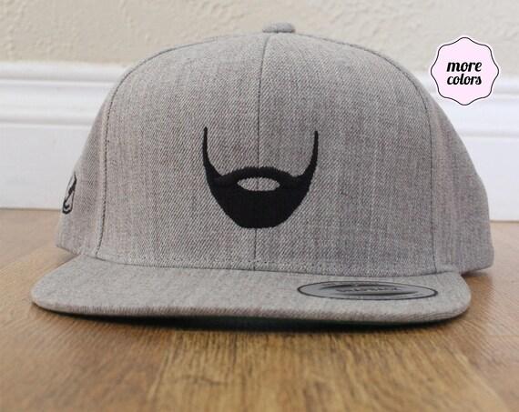 Bearded Wool Blend Snapback Hat / Cap | Beard Life Hat | Beard Hat Beard Club Hat Father's Day Gift Snapback Dad Gift Father Gift Lumberjack