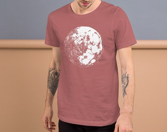 Moon Short-Sleeve Men's Unisex T-Shirt Moon Shirt | Moon T-Shirt | Space Shirt | Galaxy Shirt | Science Shirt | Full Moon Shirt Moon Tee