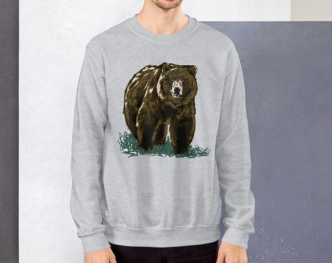 Grizzly Bear Sweater - Unisex Grizzly Bear Gift