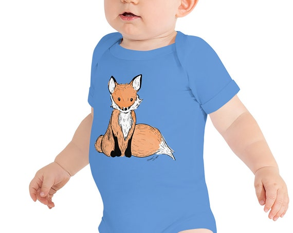 Fox Infant Bodysuit | Fox Baby Clothing Animal Baby Outfit Woodland Animal Outfit Woods Woodsy Fox Tail Woodland Baby Shower Gift Fox Party
