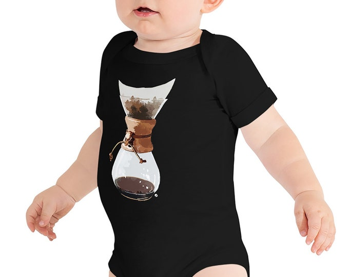 Pour Over Baby Bodysuit | Coffee Lover Infant Bodysuit | Coffee Life Baby Barista Baby Coffee Snob Baby Shower Gift Coffee Lover Baby Outfit