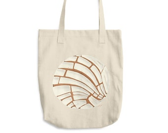 Pan Dulce Cotton Tote Bag | Pan Dulce Tote Bag | Concha Tote Bag | Mexican Gift | Latinx | Chicano | Hispanic | Grocery Bag | Bread Bach Bag
