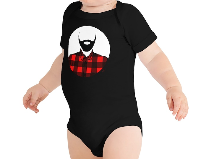 Lumberjack Baby Bodysuit Father's Day Gift Beard Infant Bodysuit Beard Baby Outfit Beard Dad Fathers Day Dad Life Lumberjack Baby Shower